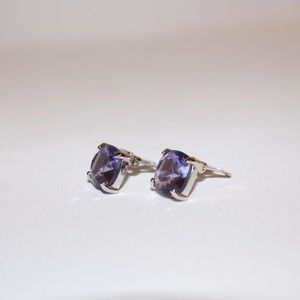 Swarovski Vintage Crystal Earrings. Princess cut.